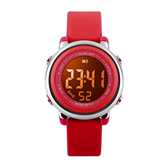 Amazon.com: Reloj digital deportivo impermeable para niñas ...