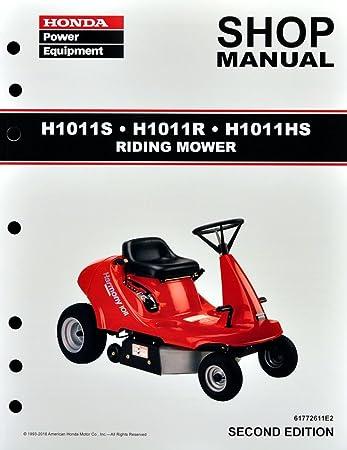 amazon com honda h1011 riding mower service repair shop manual rh amazon com honda harmony ii hrr216 service manual Honda HRR216 Blade