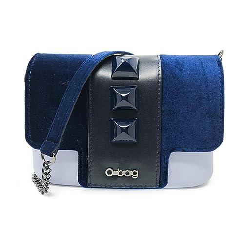 vendita calda online 5d060 41a40 OBAG O Pocket Skyway con Pattine borchie velluto Blu e ...
