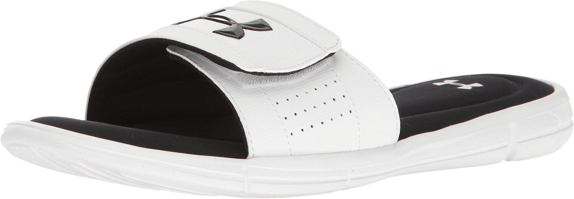 Under Armour Men's UA Ignite V Slide White/Black 16 D US