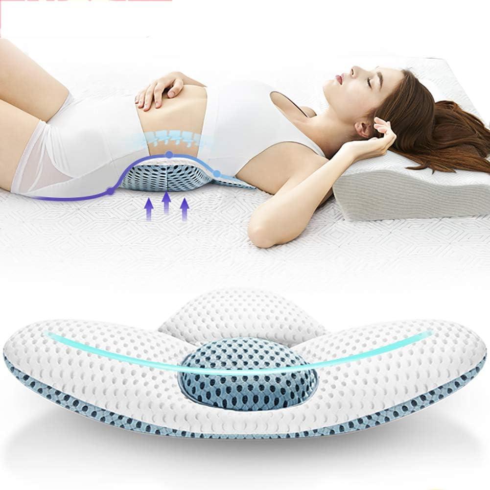 TOPY Almohada Lumbar Detrás De La Cama Apoyo Almohada para Dormir, Ajustable Triángulo Asiento Apoyo Inferior Back Cama Cintura Mujer Embarazada Relajarse Músculo Dolor-a