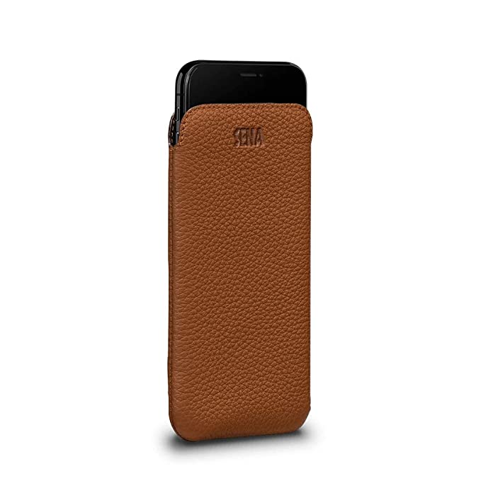 sale retailer c74d1 dbc42 Amazon.com: Sena Cases, UltraSlim Leather Sleeve iPhone XR: Cell ...