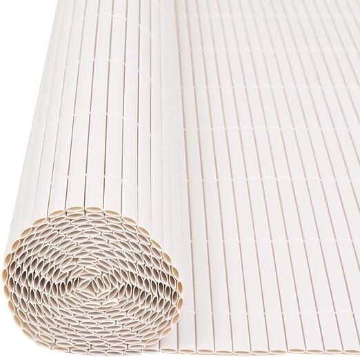 vidaXL Sichtschutzzaun PVC 90x500cm Weiß Windschutz Sichtschutzmatte Zaun