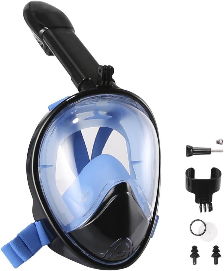 2019 Gebogene Oberfläche Vollgesicht Schnorchelmaske Tauchen Maske Tauchmaske DE