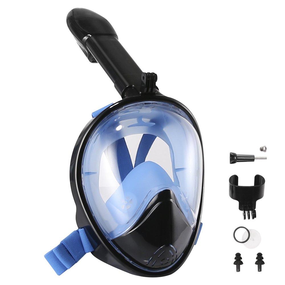 Máscara de Buceo °GoPro Gafas de Snorkel Facial Completa con Diseño Anti