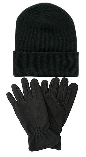 09048fdbb71 Amazon.com  Mens Womens Warm Beanie Winter Hat   Glove Set