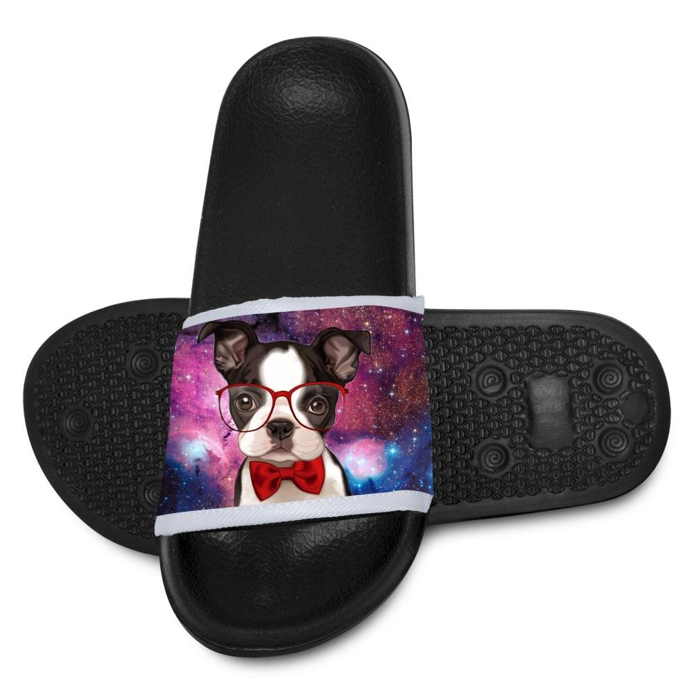 Glasses Bow Tie Dog Slippers for Boy Girl Indoor Outdoor Casual Sandals Shoes