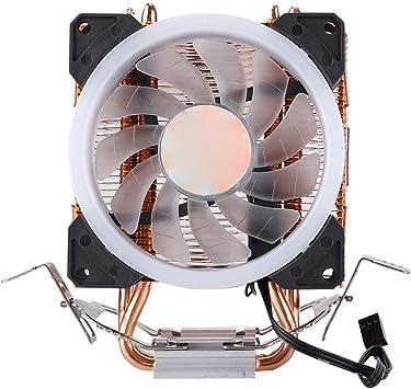 Diyeeni 9 cm Enfriador de CPU Aurora 5 Colores Ventilador Único Ligero Oro Disipador de Calor: Amazon.es: Electrónica