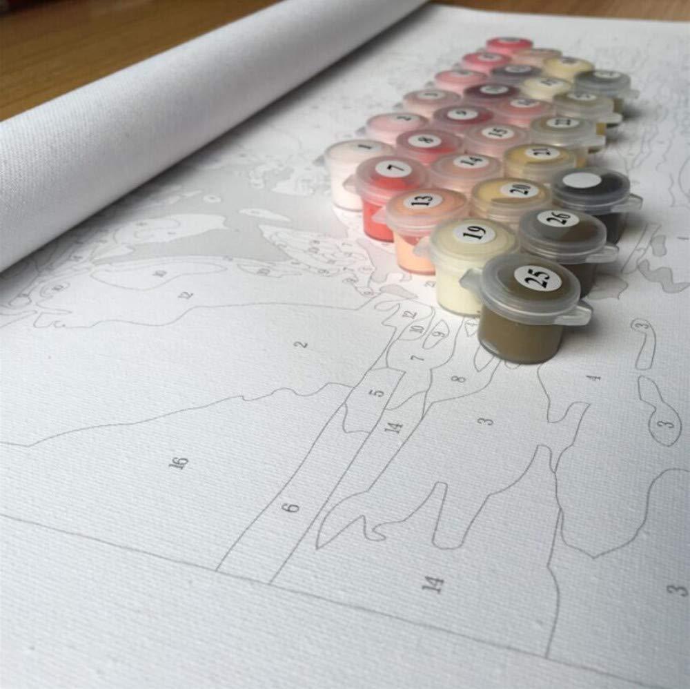 WACYDSD Pintar por n/úmeros Plaza de espa/ña Sevilla Pintura al /óleo Pintada a Mano DIY para Las Ilustraciones caseras de la decoraci/ón de la Pared sin Marco