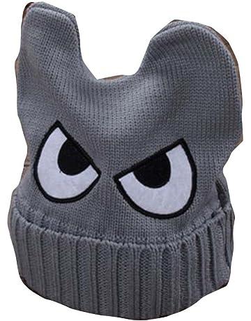 Cute Big Eyed niños tejidos a mano Resil invierno sombrero suave bebé  caliente Cap 73c270930a2