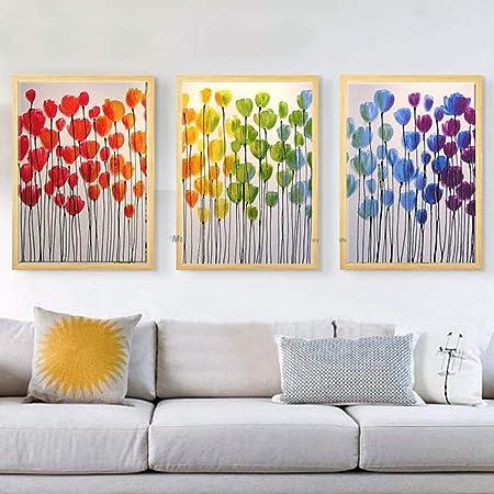 WSNDGWS Pieza de Pintura al óleo Abstracta Pintura ...