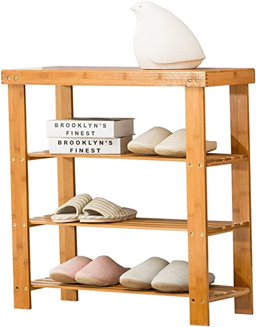 estantería Banco de Bambú Natural Rack Bench 3 Tier Organizador de Zapatos Asiento de Entrada Estante de Almacenamiento Escalera Muebles (Tamaño : 70 * 26 * 70CM): Amazon.es: Hogar
