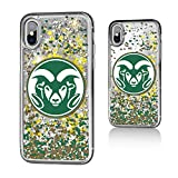 Keyscaper NCAA Colorado State Rams Unisex Apple iPhone Glitter Caseglitter Case, Clear, iPhone x