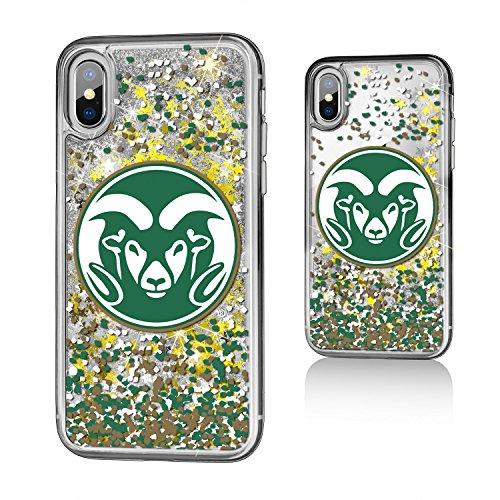 Keyscaper NCAA Colorado State Rams Unisex Apple iPhone Glitter Caseglitter Case, Clear, iPhone x by Keyscaper