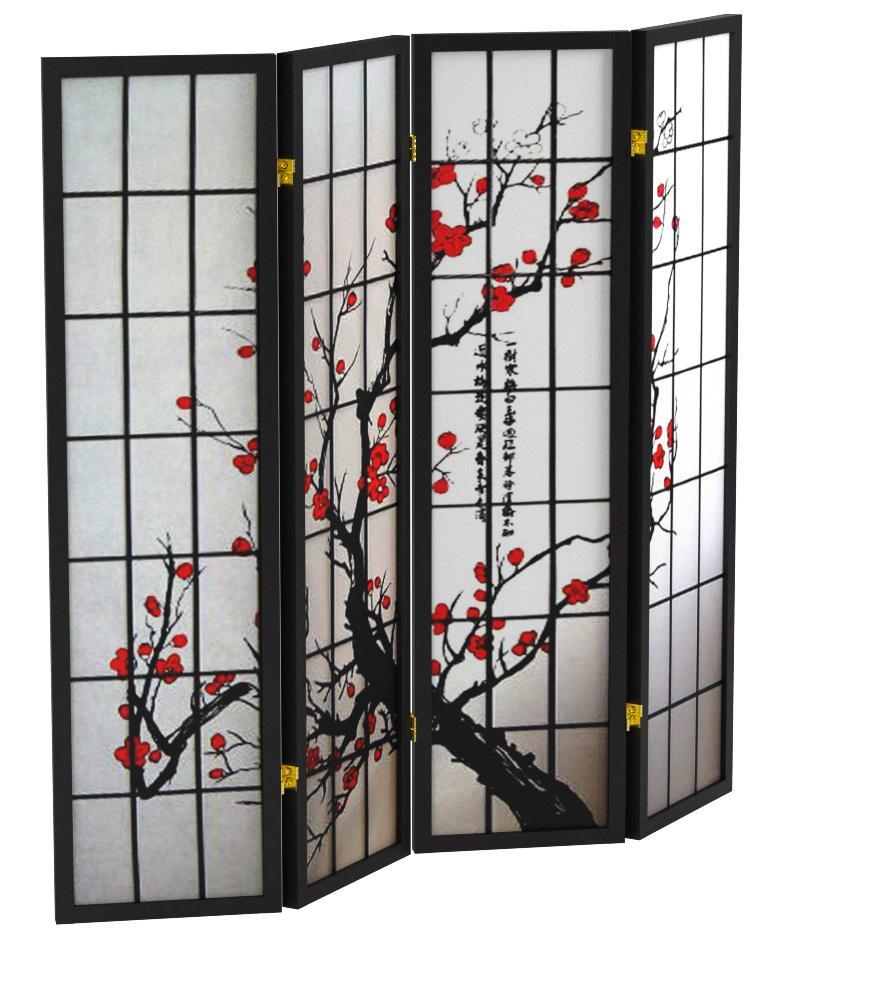 Noir Cinius PARAVENT MOD/ÈLE Branches de Cerisier