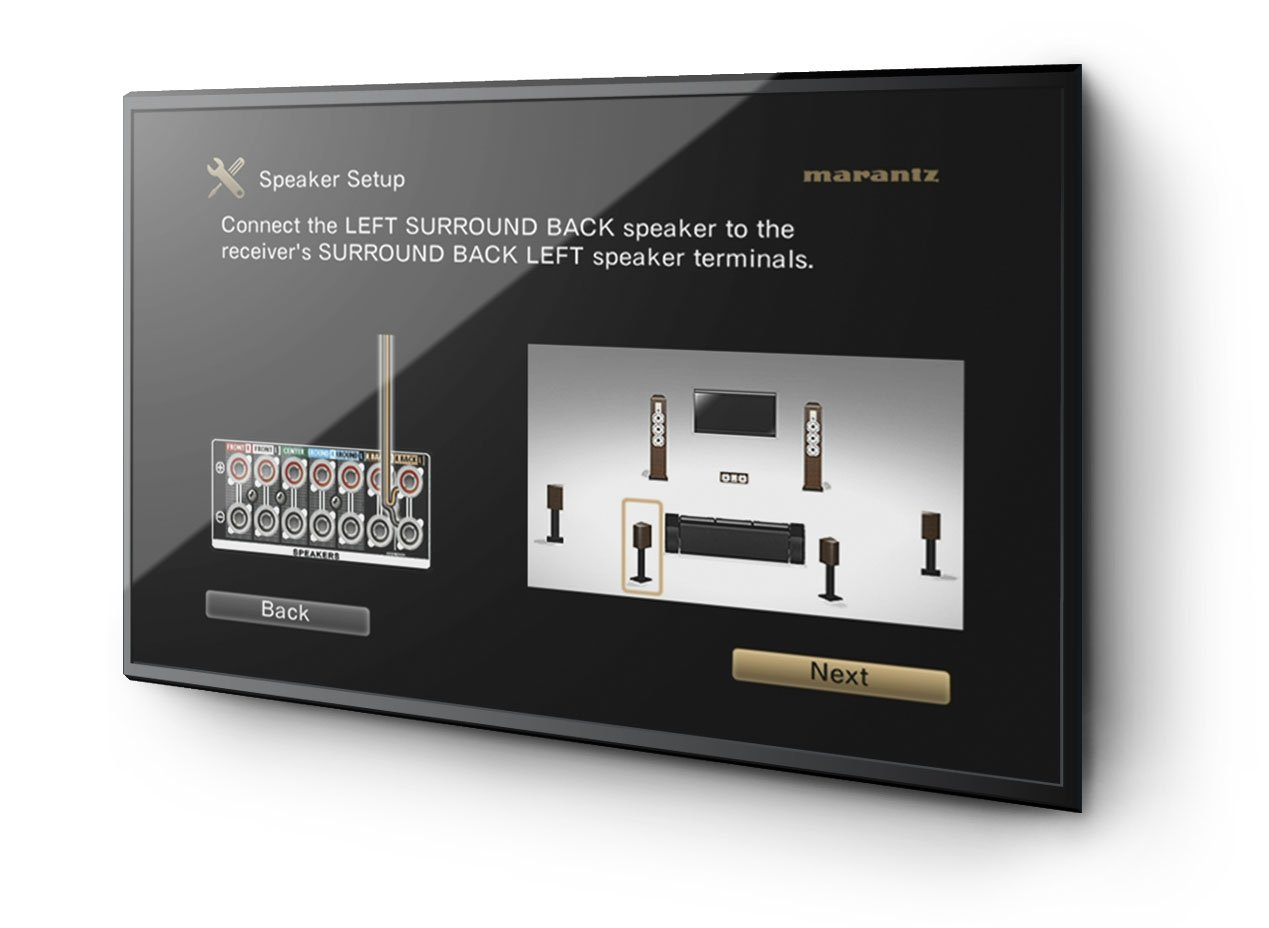 amazon com marantz nr1604 slim line 7 1 network av receiver with