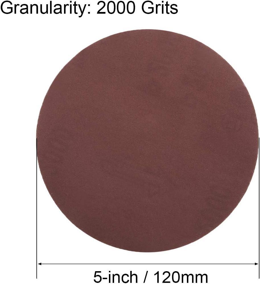 uxcell 5-Inch Sanding Disc 240 Grits Aluminum Oxide Flocking Back Sandpapers for Sanders 10 Pcs