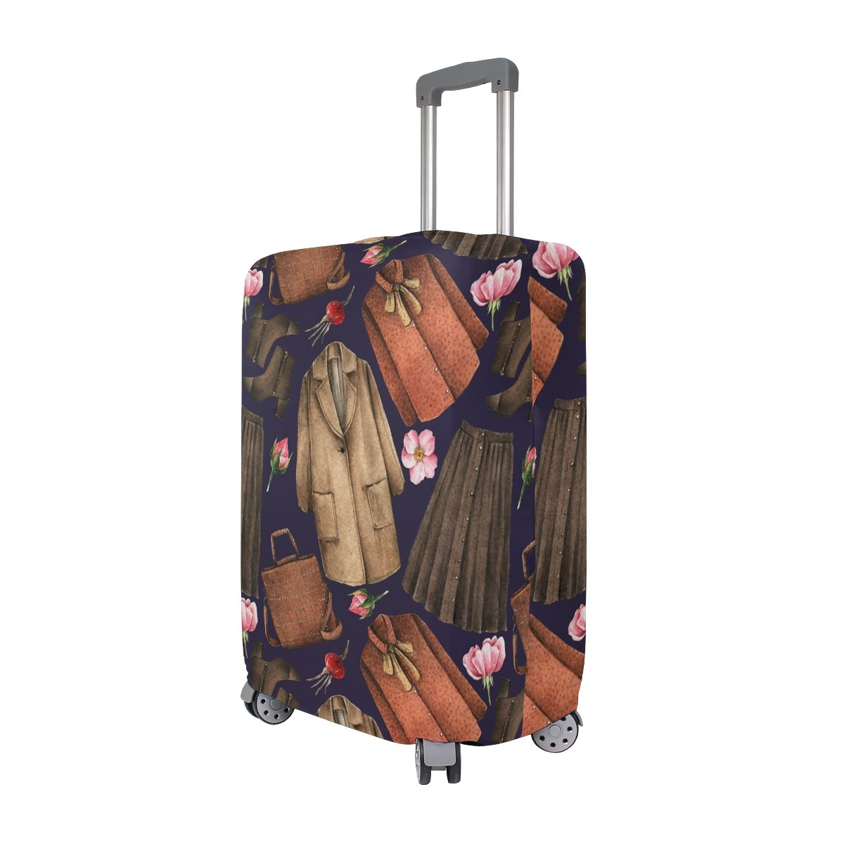 Elastic Travel Luggage Cover Watercolor Coat Skirt Suitcase Protector for 18-20 Inch Luggage by My Little Nest (Image #2)
