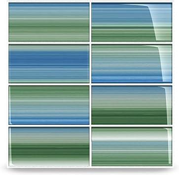 Green And Blue Tidal Glass Subway Tile For Kitchen Backsplash Or Bathroom Color Sample Amazon Com
