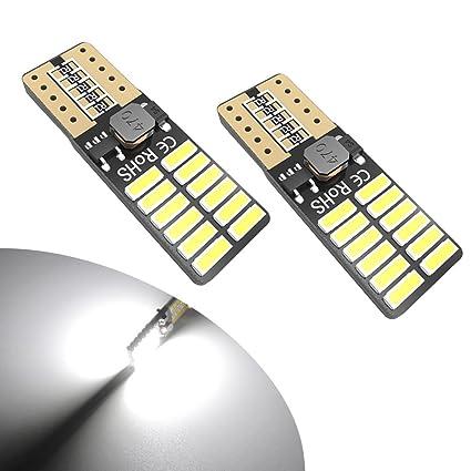 Amazon Yitamotor White T10 Led Light Bulb 194 168 175 2825