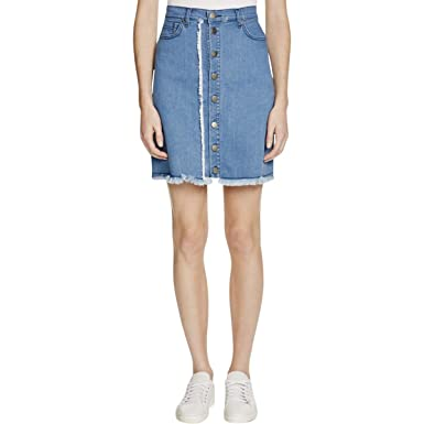 ecba73a597 N Nicholas Womens Button-Front Mini Denim Skirt Blue 2 at Amazon ...