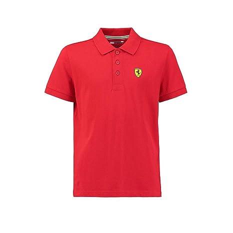 e40067b38 Amazon.com: Ferrari Kids Red Shield Logo Polo Shirt: Sports & Outdoors