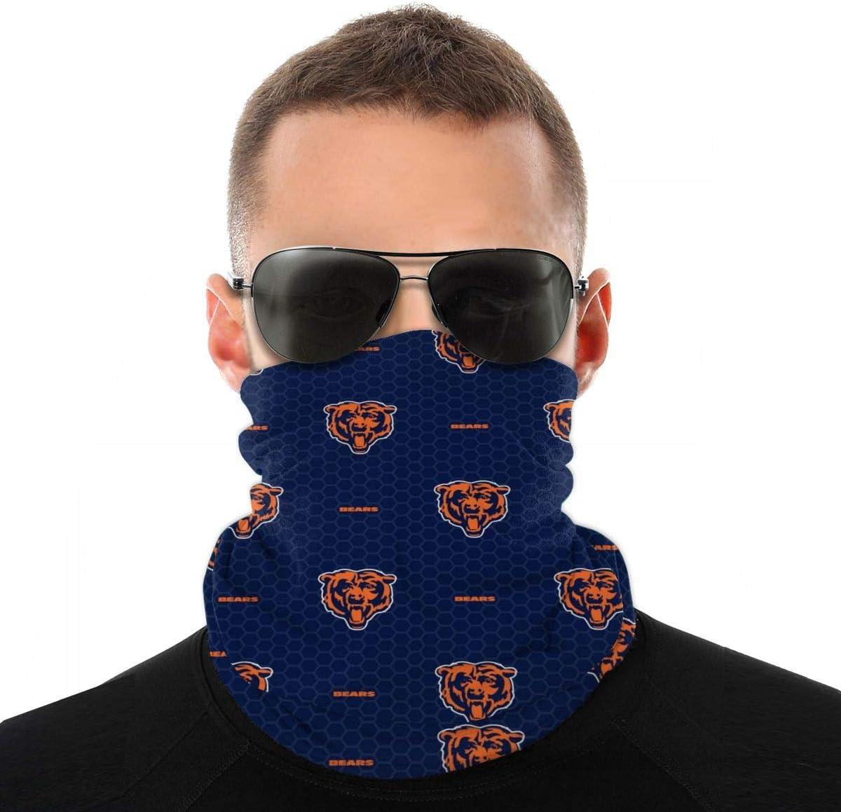 Face Shield Bandanas Neck Gaiter Face Scarf 3D Print American Football Team Bandanas for Dust Sports Festivals Outdoors