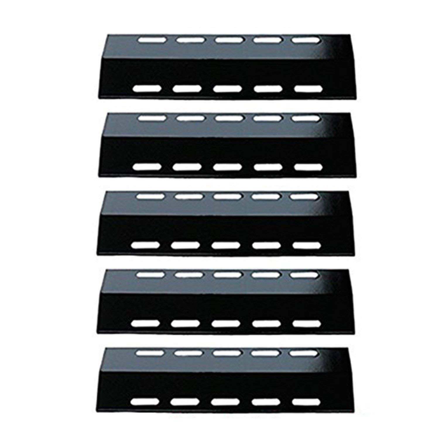 Zljiont 30500701/30500097 (5-pack) Porcelain Steel Heat Plate Replacement for Select Ducane 5 Burner Gas Grill Models, Fits Ducane 30400042, 30400043, 30400044, 30400045, 30458501 30851201, 30851301. S5200, S5400 and Weber 300043 grills(16 7/8 x 5 1/8)