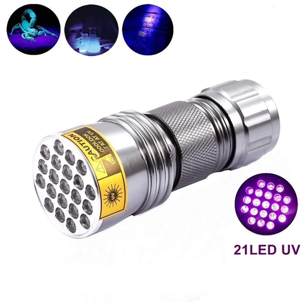 21led UV Taschenlampe 395 nm UV Taschenlampe Schwarzlicht Färben und Urin Tester Taschenlampe (Farbe : B)