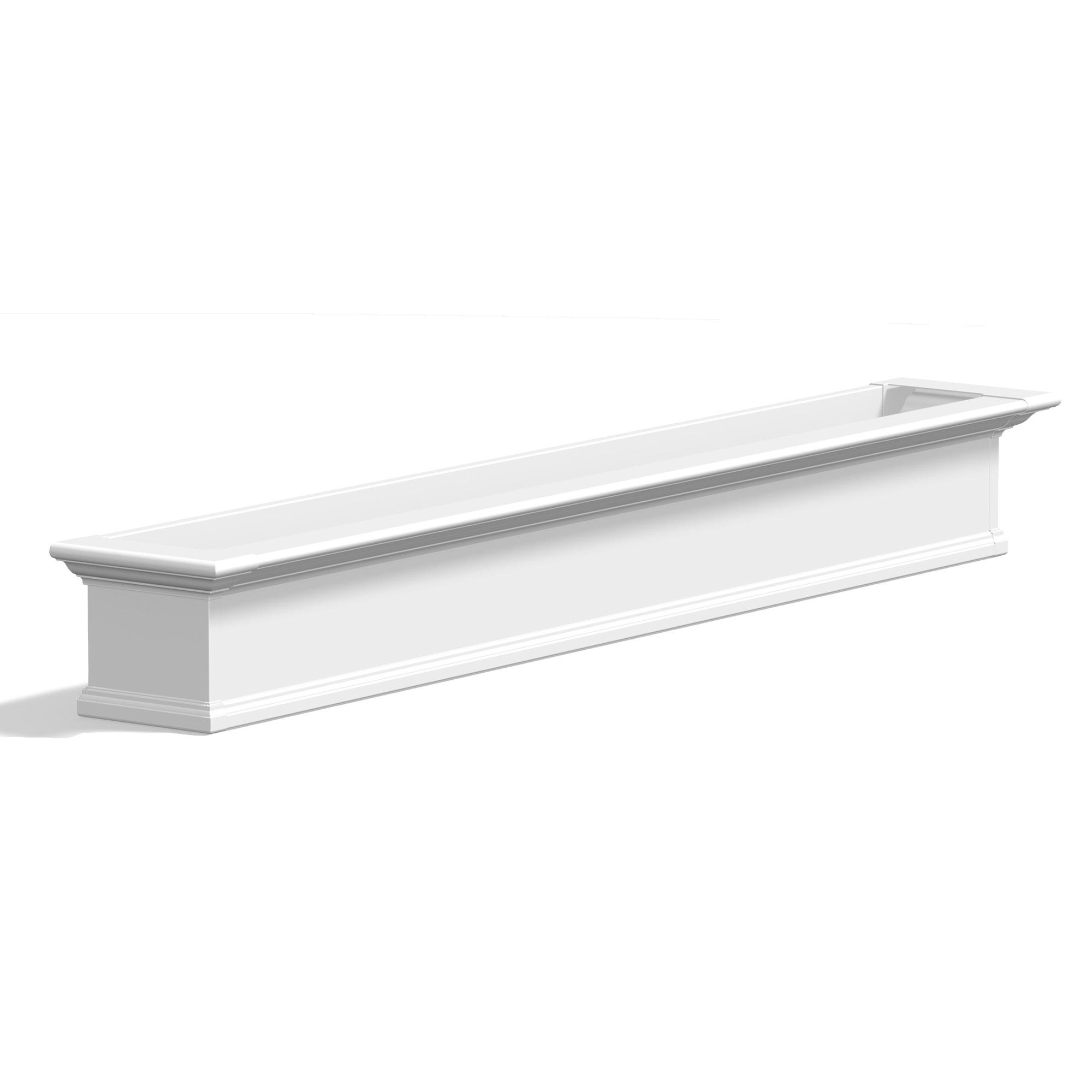 Mayne 8827-W Yorkshire Window Box 7FT Decorative, 84'', White