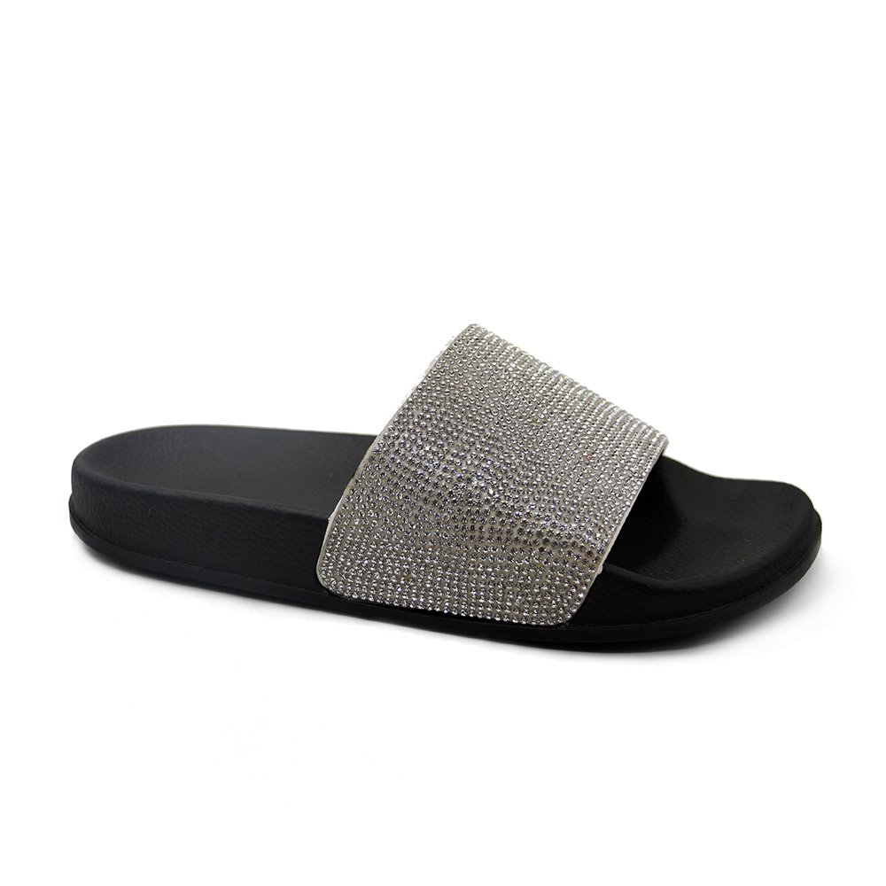 JOURNEI Women's Bling Sparkly Crystal Slides Sandals by JOURNEI (Image #2)