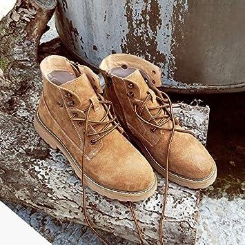 Shukun Botines Martin Boots Mujeres Estudiantes Personalidad otoño Botas Primavera y otoño Botas Retro Motocicleta Zapatos: Amazon.es: Deportes y aire libre