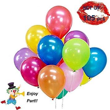 Uniquestore 105 Globos de Látex de Fiesta de Diversos Colores, Globos y Decoraciones para Cumpleaños, Fiestas, Bodas, Propuestas, Reuniones y Otras ...