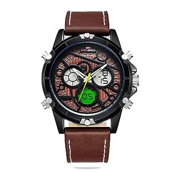 North King Reloj ElectróNico Relojes ElectróNicos del Cuarzo para Hombres Deportes Multi FuncióN Resistente Al Agua De Relojes: Amazon.es: Jardín
