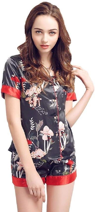 Pijamas De Satén para Mujer Camisón Dormir Camisa De Negliee De Lujo Chic Ropa Y Atractiva