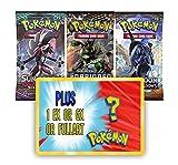 3 Random Pokemon booster packs plus 1 Random EX, GX, or Ultra Rare Full Art Pokemon Card.