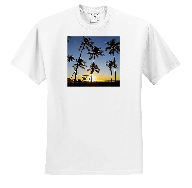 Sunset Kohala Coast Island of Hawaii ts/_314795 3dRose Danita Delimont Adult T-Shirt XL Hawaii Kaunaoa Beach
