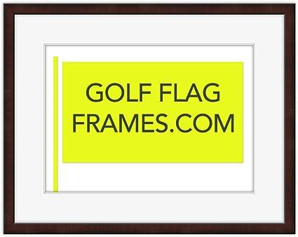 Amazon.com - Custom Size Golf Flag Frame; Mahogany Color Shadowbox ...