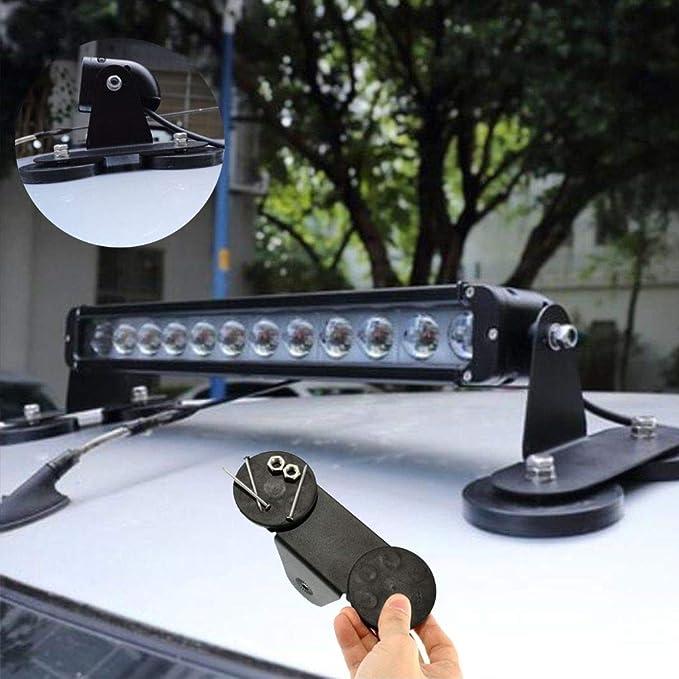 como Imagen Mostrar 1 Pair SZYZ 1pair Barra de Luz LED Soporte Magn/ético Luz de Trabajo Soporte para Todoterreno Veh/ículos 4Wd Cami/ón SUV Parachoques Soportes