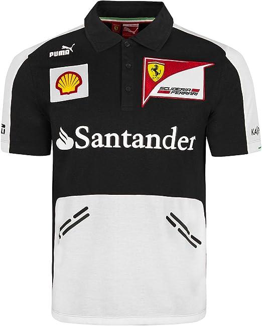 Puma - Polo de la Scuderia Ferrari de Fórmula 1 - Color: negro ...