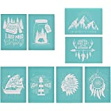 Painting on Wood YeulionCraft DIY Self-Adhesive Silk Screen Printing Stencil Welcome-Cook Reusable Stencils Pillow Fabric T-Shirt Phrase Sign Pattern for DIY Home Decor