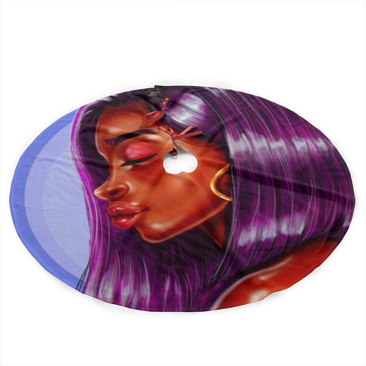 Amazon Com Tlsgcks Purple Hair Afro African American Black