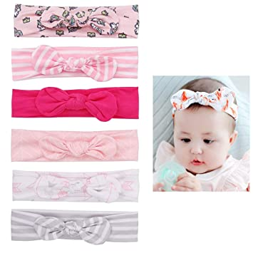 Baby Infant Toddler Girl Kid Solid Color Knot Cotton Headband Hair Head Band
