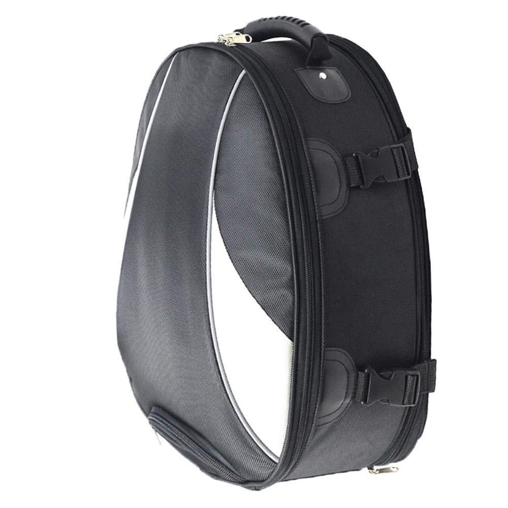 VOVI Black Commuter Tour Motorcycle Tail/Seat Bag Motorcycle Tail Bag Waterproof Luggage Bag Seat Bag Motorbike Saddle Bags Multifunctional PU Leather Bike Bag Sport Backpack