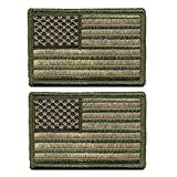 2 pieces Tactical USA Flag Patch - Multitan -American Flag Embroidered Green ...