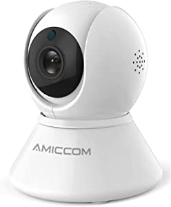Home Security Camera, Indoor WiFi Camera Wireless 1080p HD Pan/Tilt/Zoom Cam Pan Wi-Fi Smart IP Camera for Baby/Pet/Nanny, Motion Detection, 2 Way Audio Night Vision