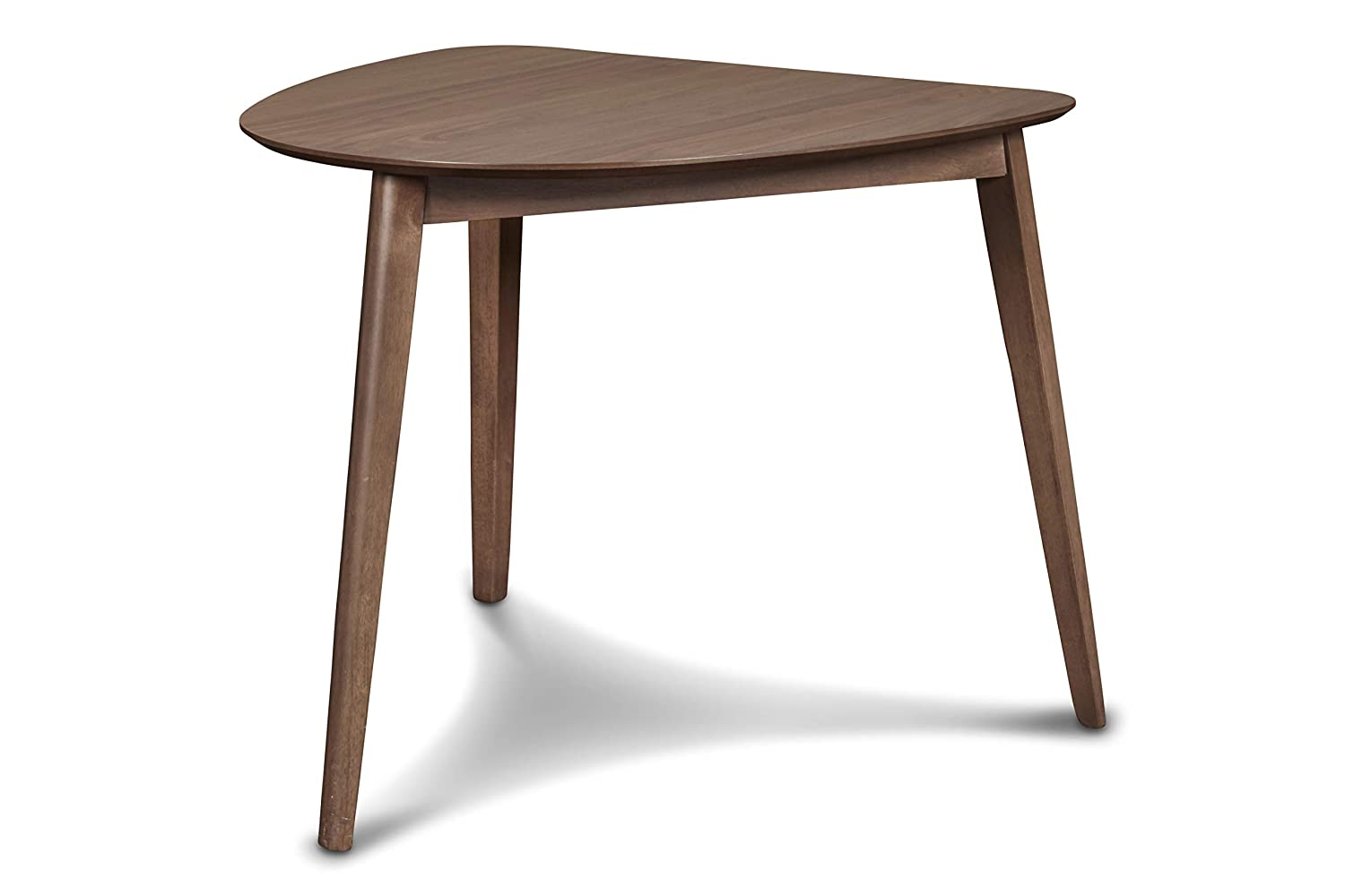 New Classic Furniture D1651-13 Mid-Century Modern Oscar Corner Table, Walnut