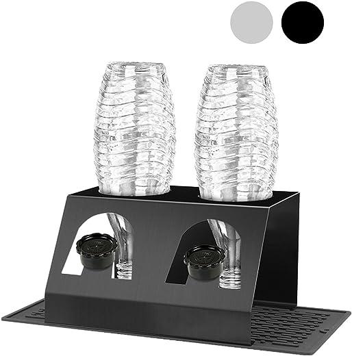 king do way Abtropfhalter Abtropfständer aus Edelstahl für Crystal und Emil Flaschen, Streambrush mit Deckelhalter Flaschenständer Herausnehmbare…