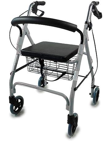 Mobiclinic Andador para Ancianos de 4 Ruedas | Rollator Deluxe Plegable | Regulable en Altura |