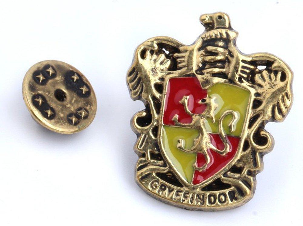 """ideale per Cosplay Spilla con stemma di Grifondoro e scritta in inglese /""""Gryffindor/"""" spilla di Harry Potter"""
